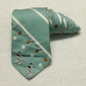 Mickey Mouse Tie By Cervantes Mint Baseball Disney